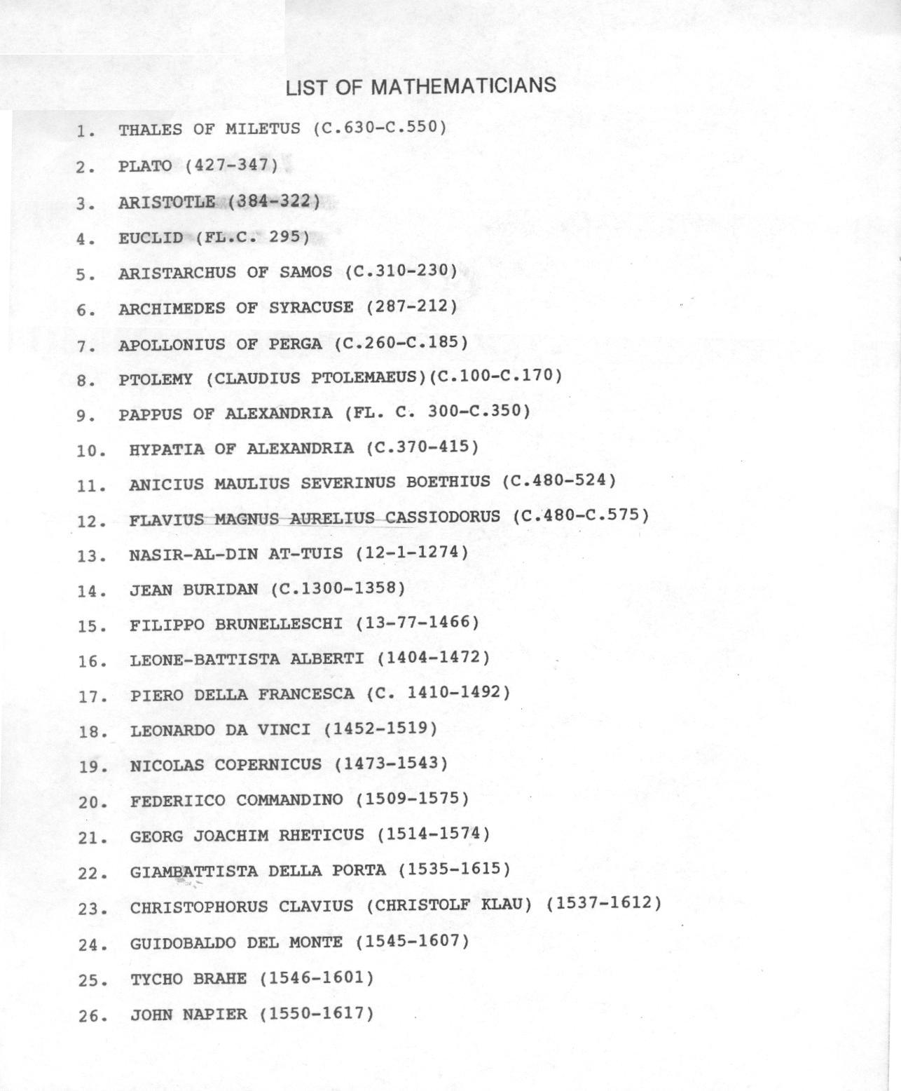 Mathematics BioPoem – Bio Poem Worksheet